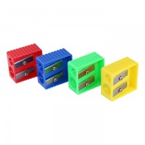 Lyra Double Hole Sharpener Assorted Color 50/box (9598A)
