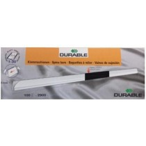 Durable Spine Bar 6mm 100/box, Transparent