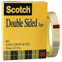 3M Scotch Permanent Double Sided Tape 665 34 x 36 yards