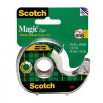 "3M 105 Magic Tape with Plastic Dispenser, 3/4"" x 300"""