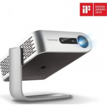 ViewSonic M1+, Portable Smart Wi-Fi Projector with Dual Harman Kardon Bluetooth Speakers HDMI USB Type C and Built-in Battery - Grey | M1-PLUS
