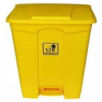 Chemex Garbage Bin Plastic With Pedal  45 Liters  Yellow