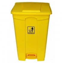 Chemex Garbage Bin Plastic With Pedal  87 Liters  Yellow