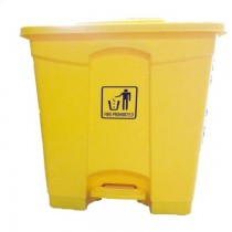 Chemex Garbage Bin Plastic With Pedal  65 Liters  Yellow