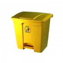 Chemex Garbage Bin Plastic With Pedal  30 Liters  Yellow