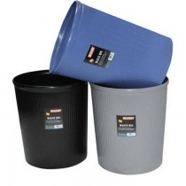Partner Plastic Waste Bin Round  Large  Blue